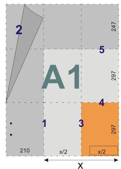 schemat składania rysunków do skoroszytów - format A1
