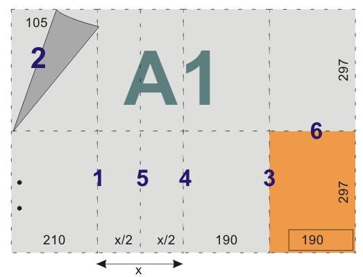 schemat składania rysunków doskoroszytów - format A1