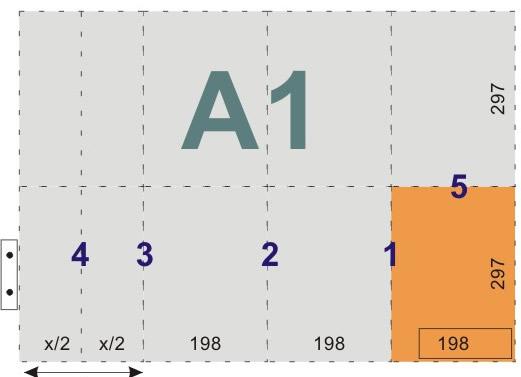 schemat składania rysunków dowpinania zlistwą - format A1