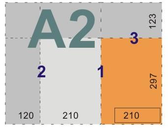 schemat składania rysunków do teczek i kopert - format A2