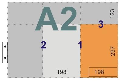 schemat składania rysunków dowpinania zlistwą - format A2