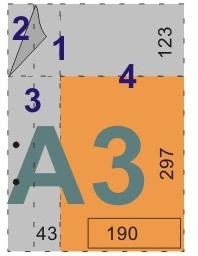 schemat składania rysunków doskoroszytów - format A3