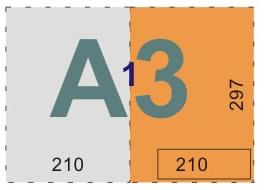 schemat składania rysunków do teczek i kopert - format A3