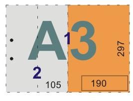 schemat składania rysunków do skoroszytów - format A3