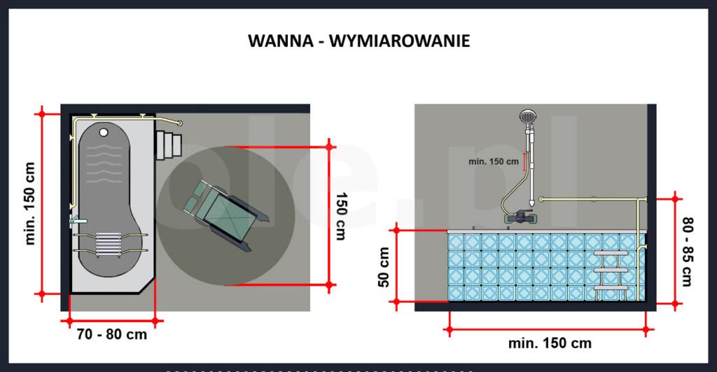 Świeże Montaż wanny dla osób niepełnosprawnych - Instalacje sanitarne MT86